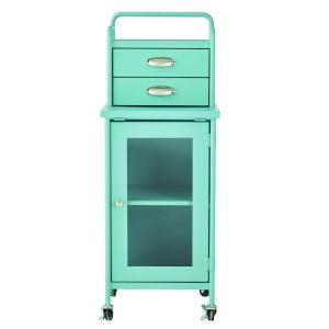 Home Decorators Collection Steel 2-Drawer Cart in Matte Blue by Home Decorators Collection