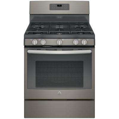 30 in. 5.0 cu. ft. Gas Range with Self-Cleaning Oven in Slate, Fingerprint Resistant