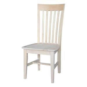 Stupendous International Concepts Unfinished Wood Mission Dining Chair Bralicious Painted Fabric Chair Ideas Braliciousco
