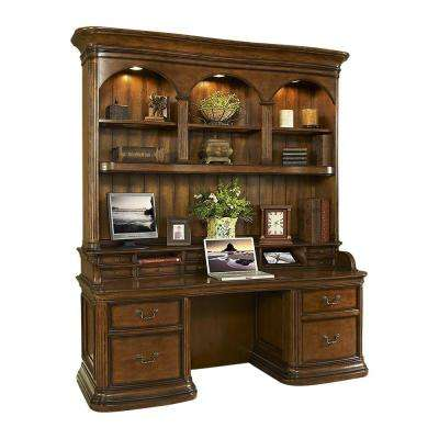 Winsome Burnt Sienna Credenza Desk And Hutch
