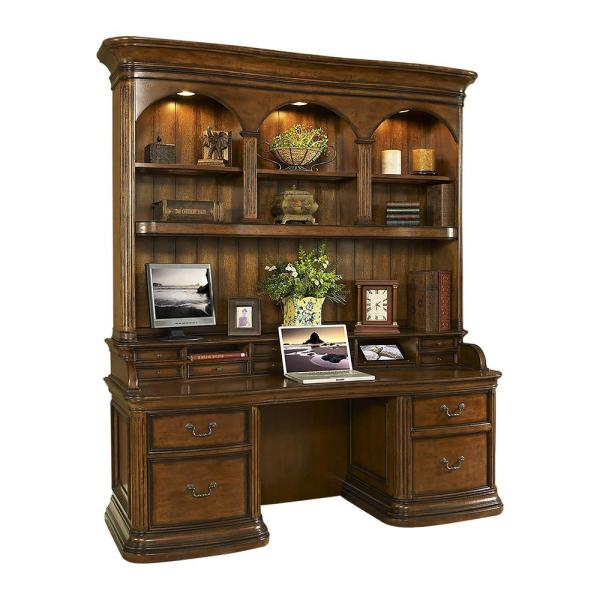 Turnkey Products LLC Winsome Burnt Sienna Credenza Desk And Hutch