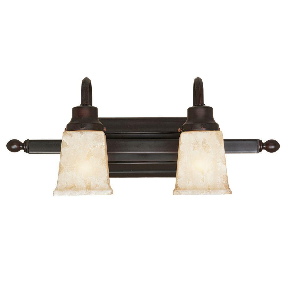 Bathgate Collection 2-Light Weathered Copper Bath Bar