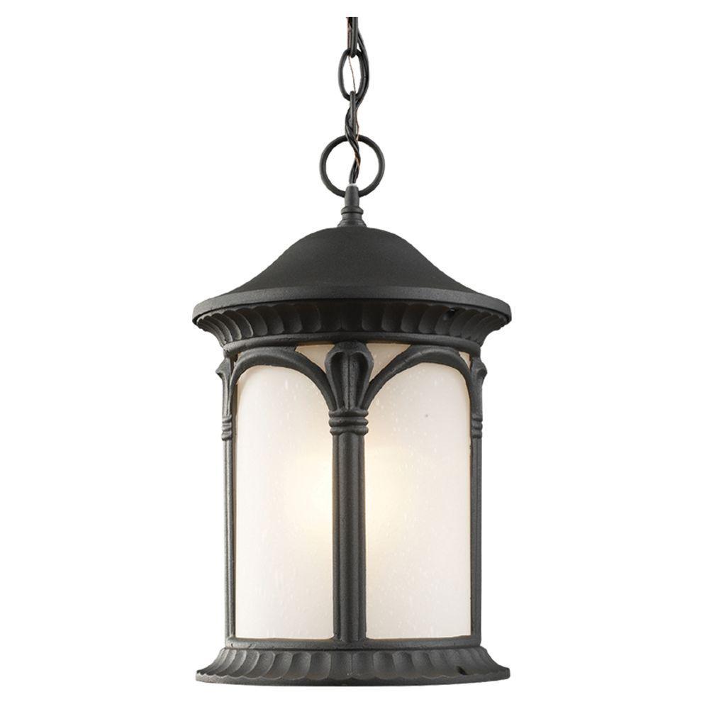 Tulen Lawrence 1-Light Outdoor Black Incandescent Hanging Pendant