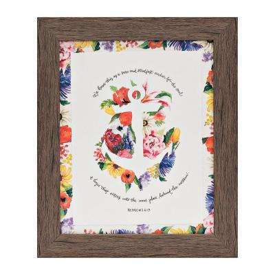 """GraceLaced  """"Anchor for the Soul"""" by GraceLaced for Carpentree Printed Framed Wall Art"""