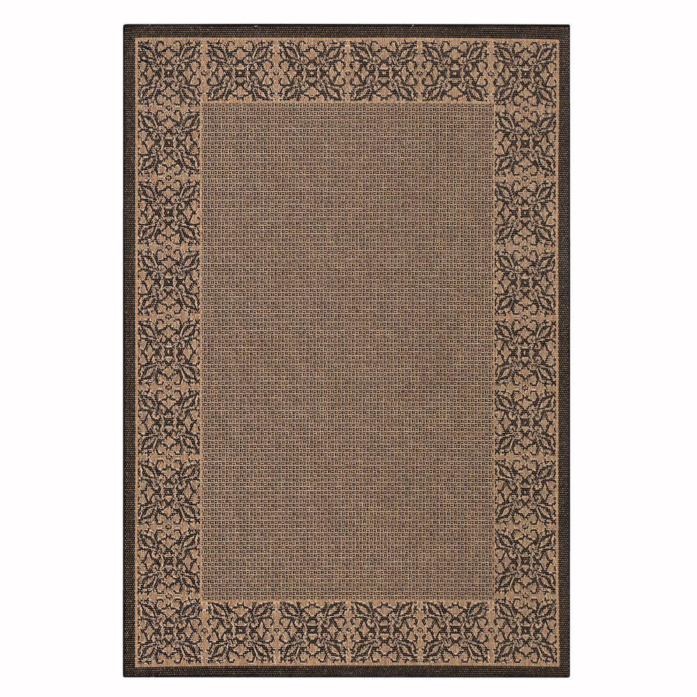 Home Decorators Collection Summer Chimes Cocoa/Black 6 ft. x 9 ft. Area Rug