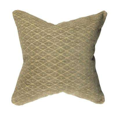 Lattice Flocked Throw Pillow