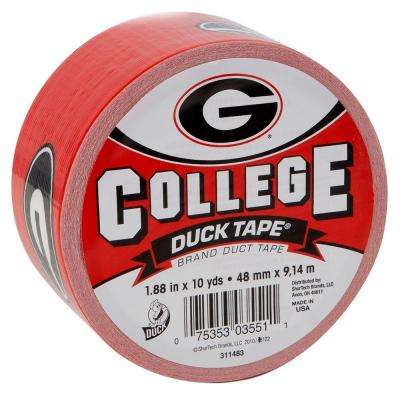 College 1-7/8 in. x 30 ft. University of Georgia Duct Tape