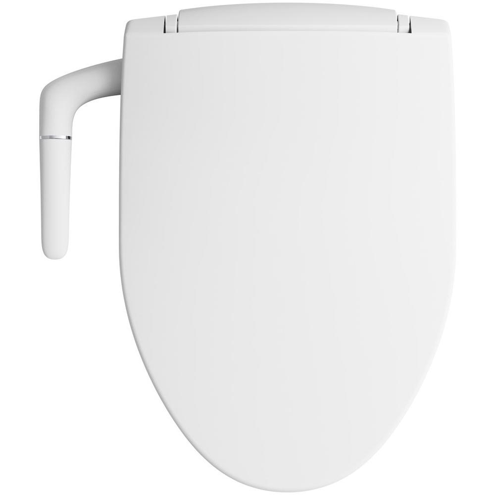 Kohler Puretide Non Electric Bidet Seat For Elongated Toilets In White K 5724 0 The Home Depot