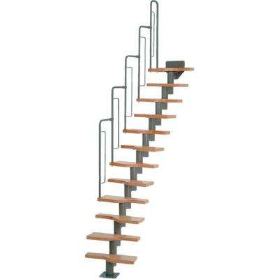 Graz 23 in. Grey Modular 12 Tread Stair Kit