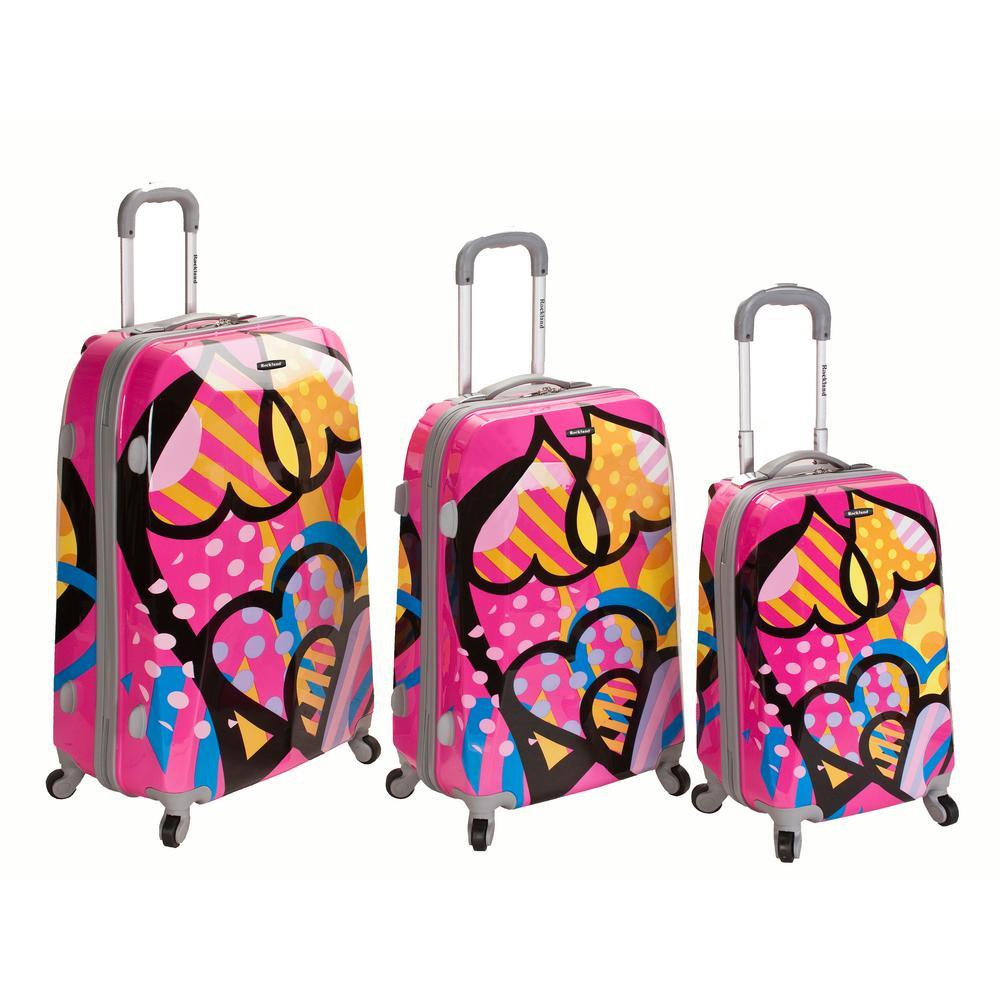 Rockland Rockland 3-Piece Vision Hardside Spinner Luggage set , Love F150-LOVE