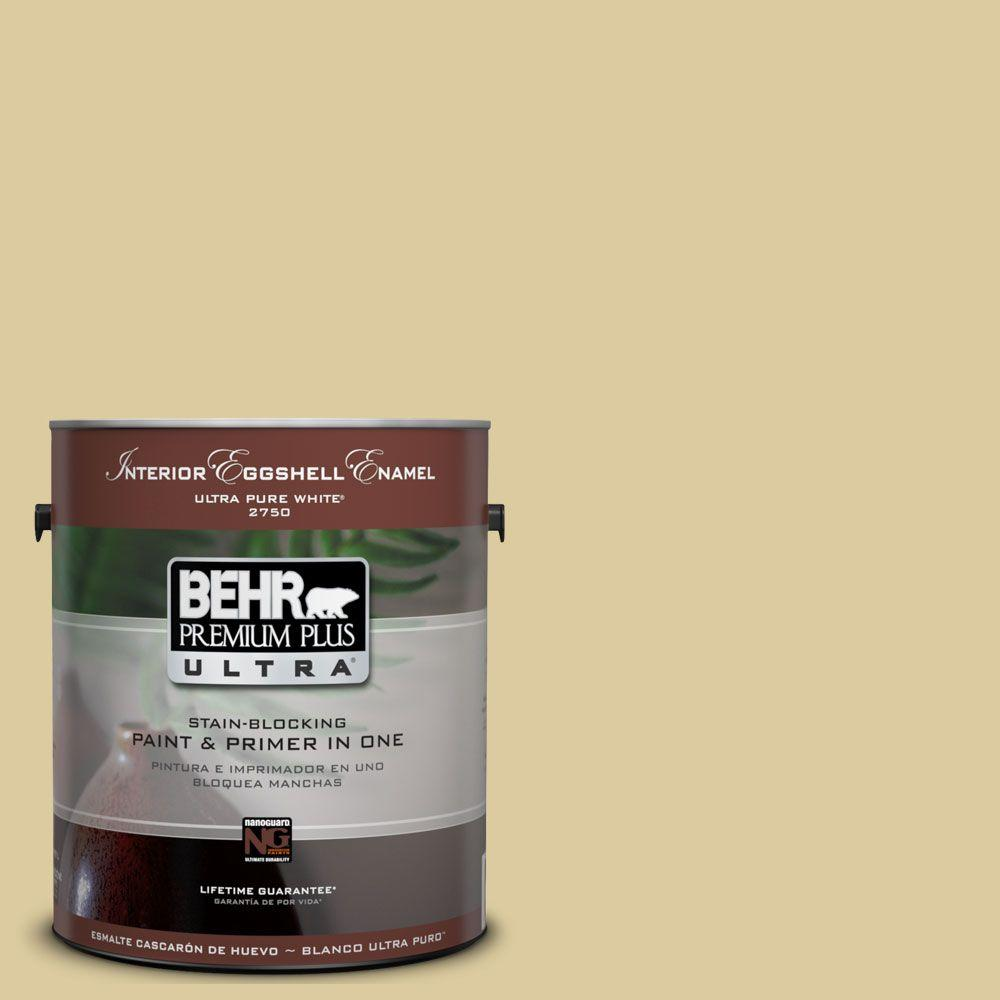 BEHR Premium Plus Ultra 1 gal. #UL180-10 Mojito Eggshell Enamel Interior Paint and Primer in One
