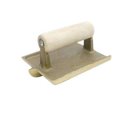 6 in. x 4.5 in. 1/4 R Bronze Groover with Hardwood Handle