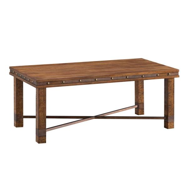 Westville Aged Whiskey Finish Rustic Cocktail Table