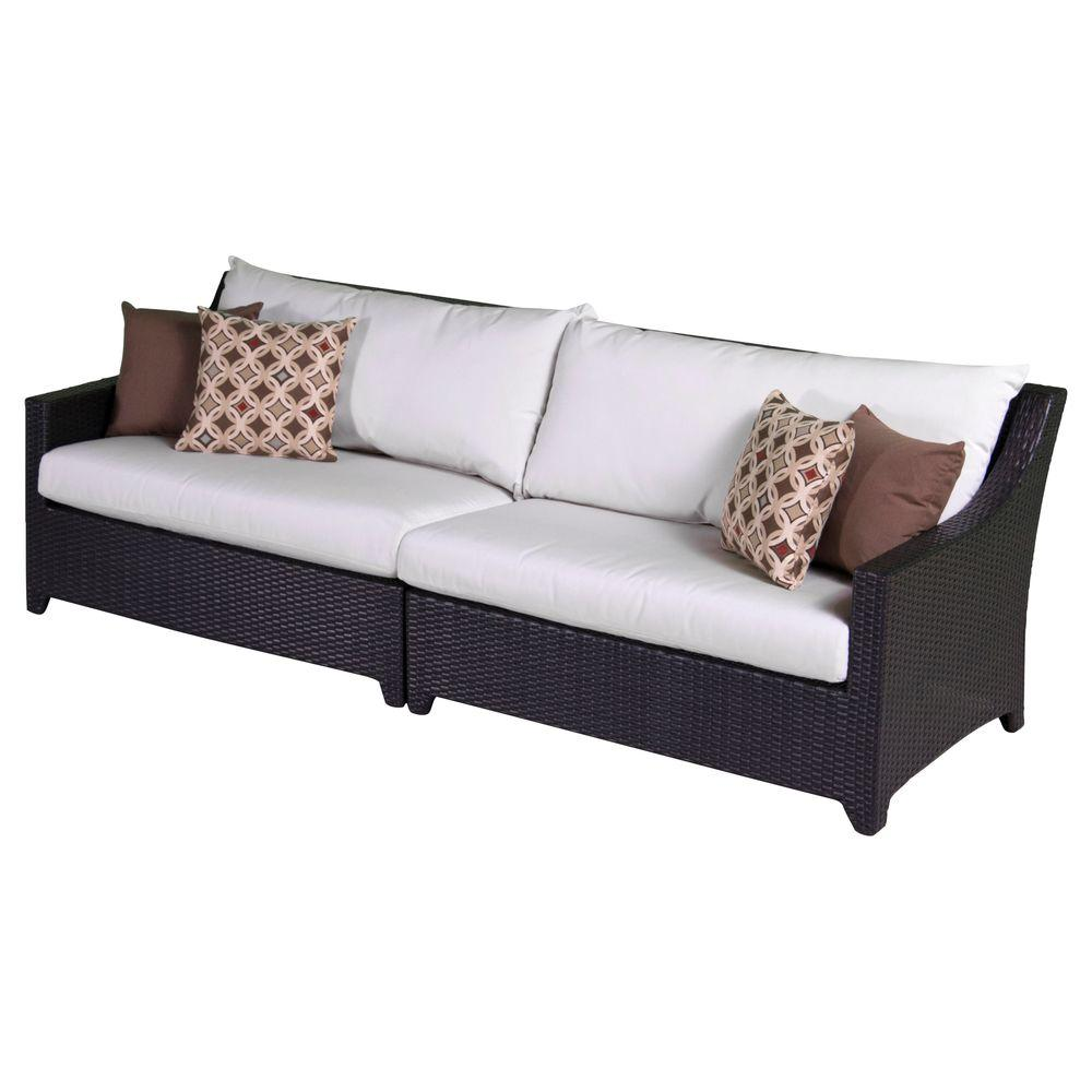 Rst Brands Deco Patio Sofa With Moroccan Cream Cushions Op