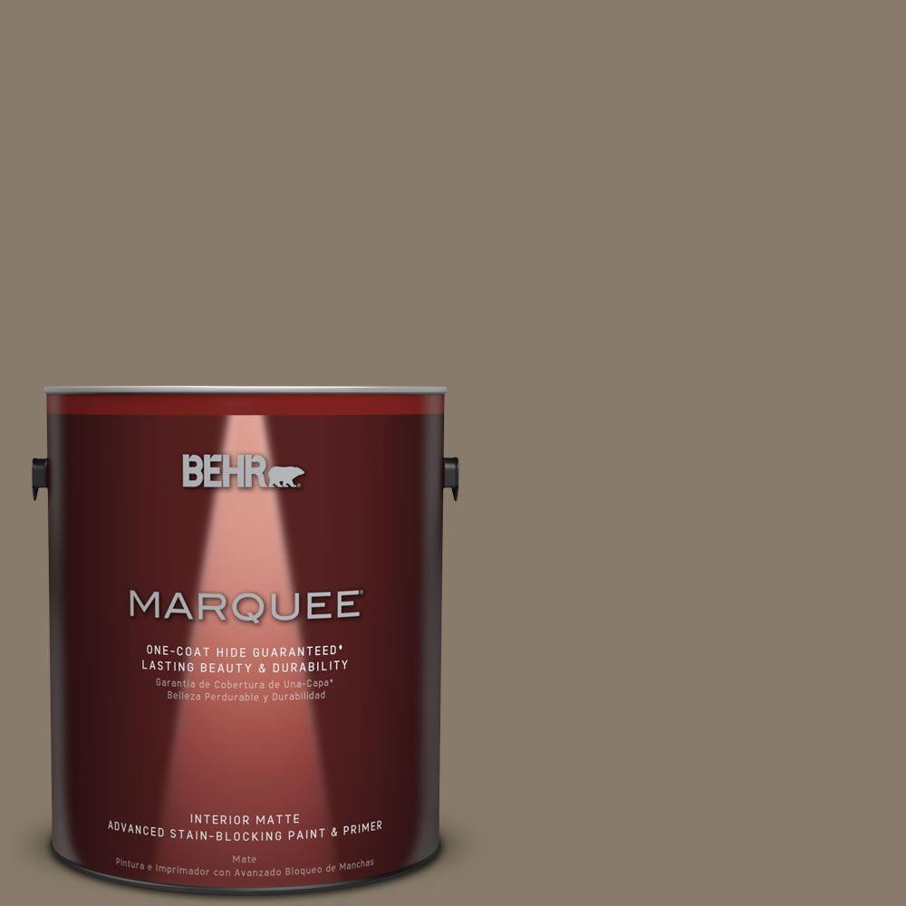 1 gal. #PPU7-24 Native Soil One-Coat Hide Matte Interior Paint