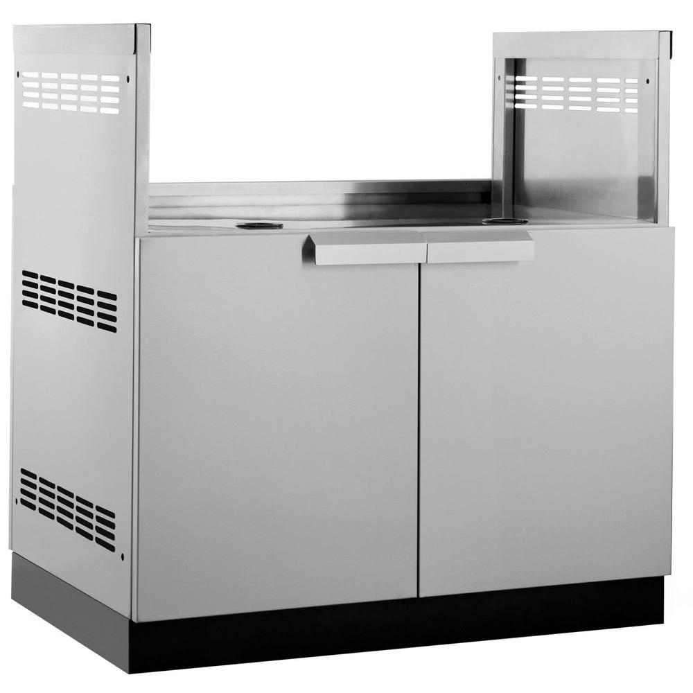 NewAge Products Aluminum Slate 33 In. Insert BBQ Grill 33x34.8x23 In. Outdoor  Kitchen Cabinet 65204   The Home Depot