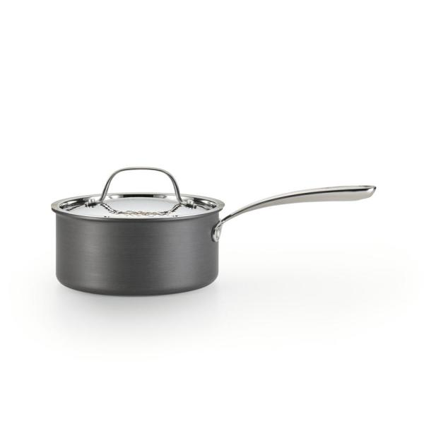 Nera 2 qt. Hard Anodized Aluminum Covered Saucepan