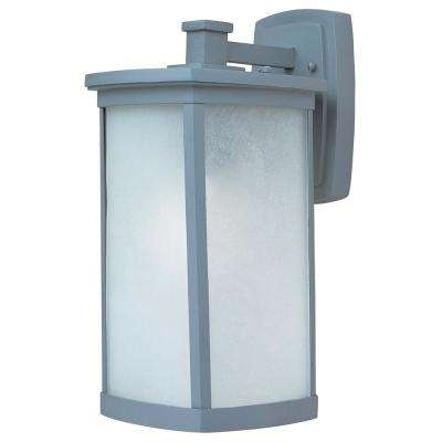 Terrace 8 in. W 1-Light Platinum Outdoor Wall Lantern Sconce