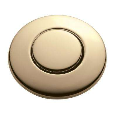 SinkTop Switch Push Button in French Gold for InSinkErator Garbage Disposals