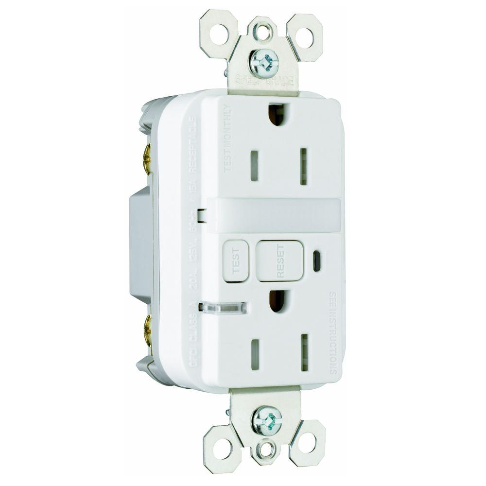 Legrand Pass & Seymour 15 Amp Tamper-Resistant GFCI Duplex Receptacle and Nightlight