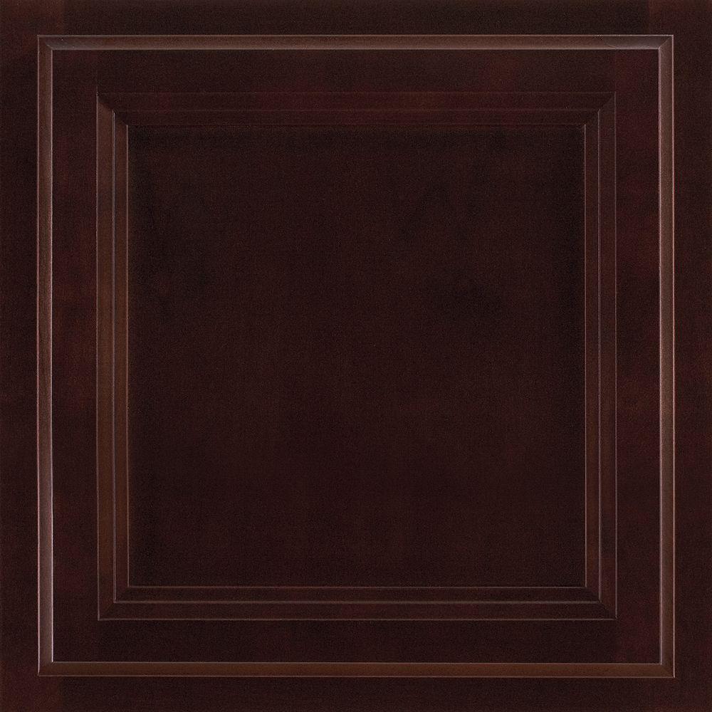 American Woodmark 13x12-7/8 in. Cabinet Door Sample in Ashland Cherry Java