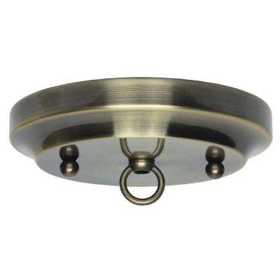 5 in. Antique Brass Classic Canopy Kit