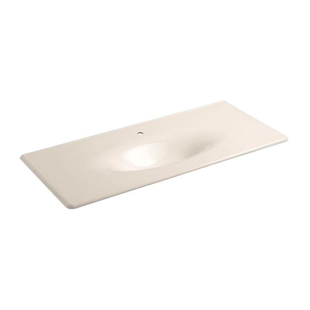 KOHLER Iron/Impressions 22.25 in. Single Basin Vanity Top in Innocent Blush