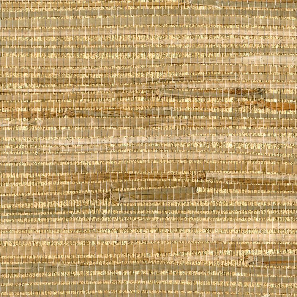 Zoho Neutral Foil Grass Neutral Wallpaper Sample