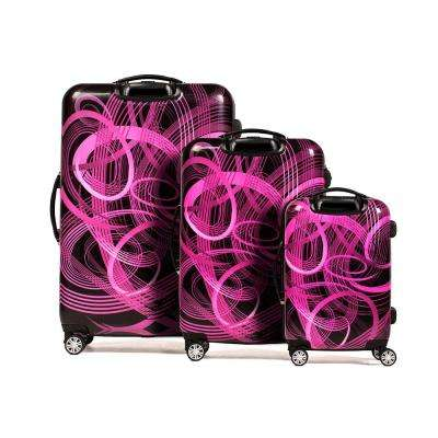 Atomic Nested 3-Piece Pink Spinner Rolling Luggage Set