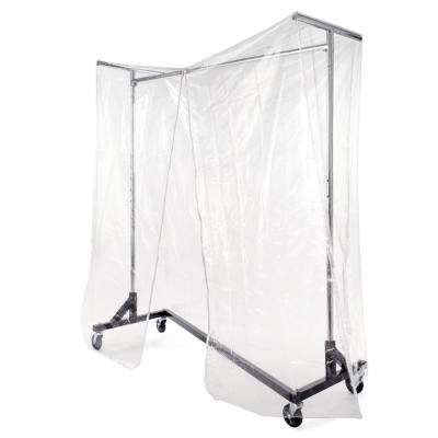 64 in. W x 70 in. H Clear Vinyl Cover with Metal Support Bars for RZK/7, RZK/8 and RZK8RNG Metal Rolling Garment Racks