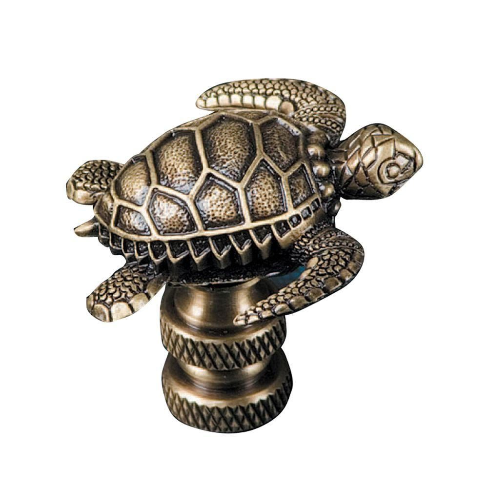 Mario Industries Sea Turtle Lamp Finial-B365A - The Home Depot