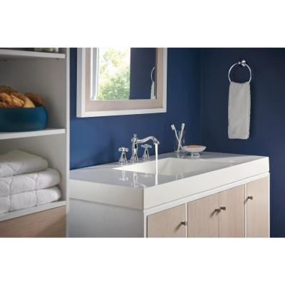 Cassidy 8 in. Widespread 2-Handle Bathroom Faucet with Metal Drain Assembly in Chrome (Handles Not Included)