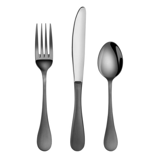Artaste Rain 1810 Stainless Steel Flatware 36 Piece Set Black