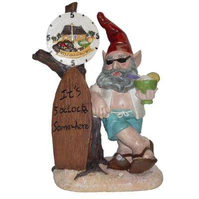 15 in. Beach Bubba Gnome It's 5 O'Clock Somewhere Collectible Home and Garden Statue