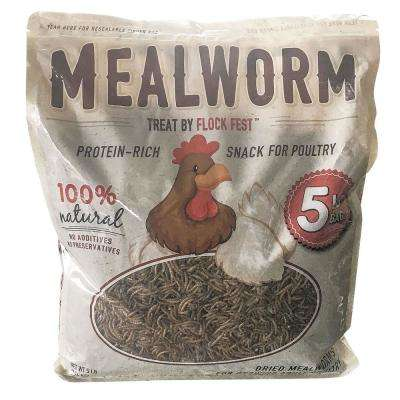 Dried Mealworms for Chickens, Wild Birds, Ducks and Small Pets (5 lbs. Bag)