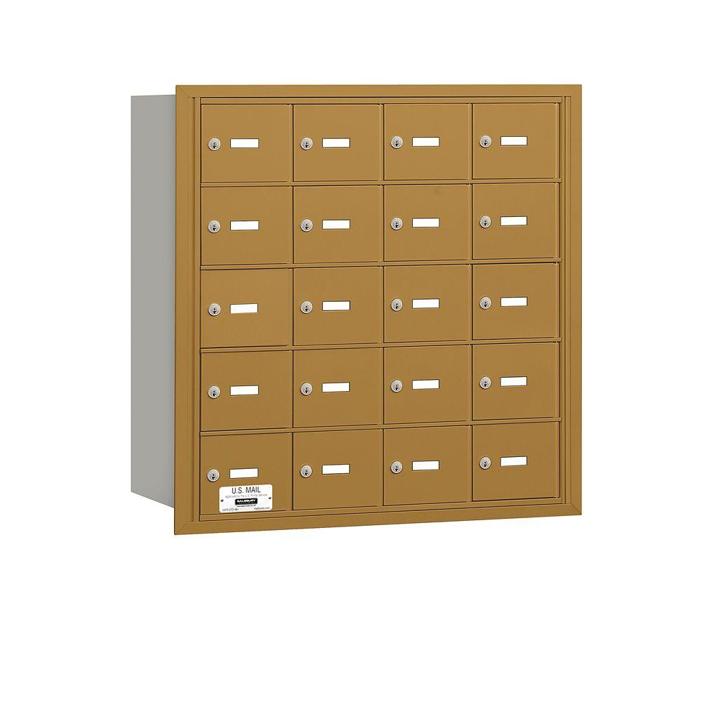 Salsbury Industries Gold USPS Access Rear Loading 4B Plus Horizontal Mailbox with 20A Doors