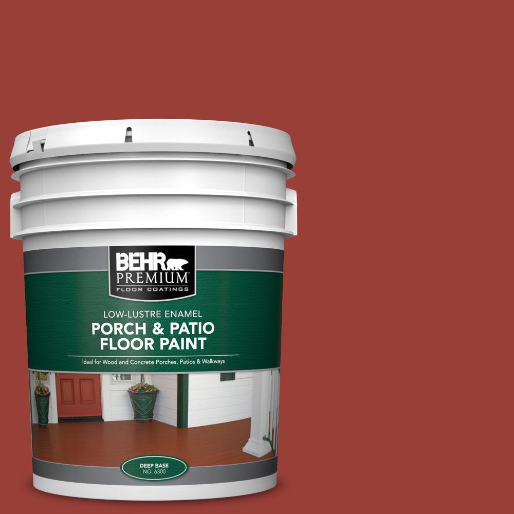 5 gal. #S-H-190 Antique Red Low-Lustre Enamel Interior/Exterior Porch and Patio Floor Paint