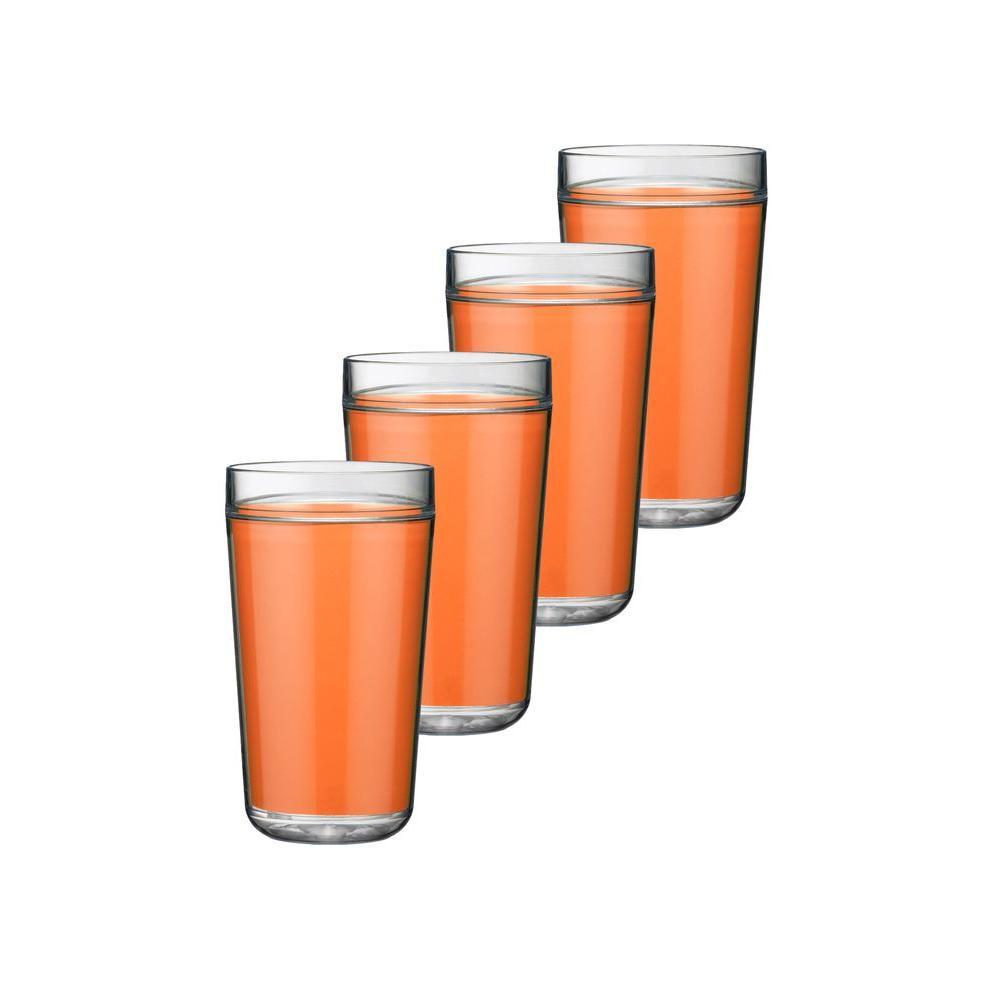 Kraftware 24 oz. Insulated Drinkware in Spicy Orange (Set of 4)-DISCONTINUED