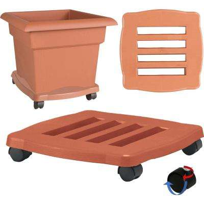 15 x 2.5 Terra Cotta Caddie Plant Dolly Plastic Square