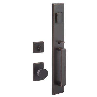 Sure Loc Hardware Vail Vintage Bronze Single Cylinder Keyed Entrance Leverset With Deadbolt And Escalante Interior Vl507 Es 11p The Home Depot