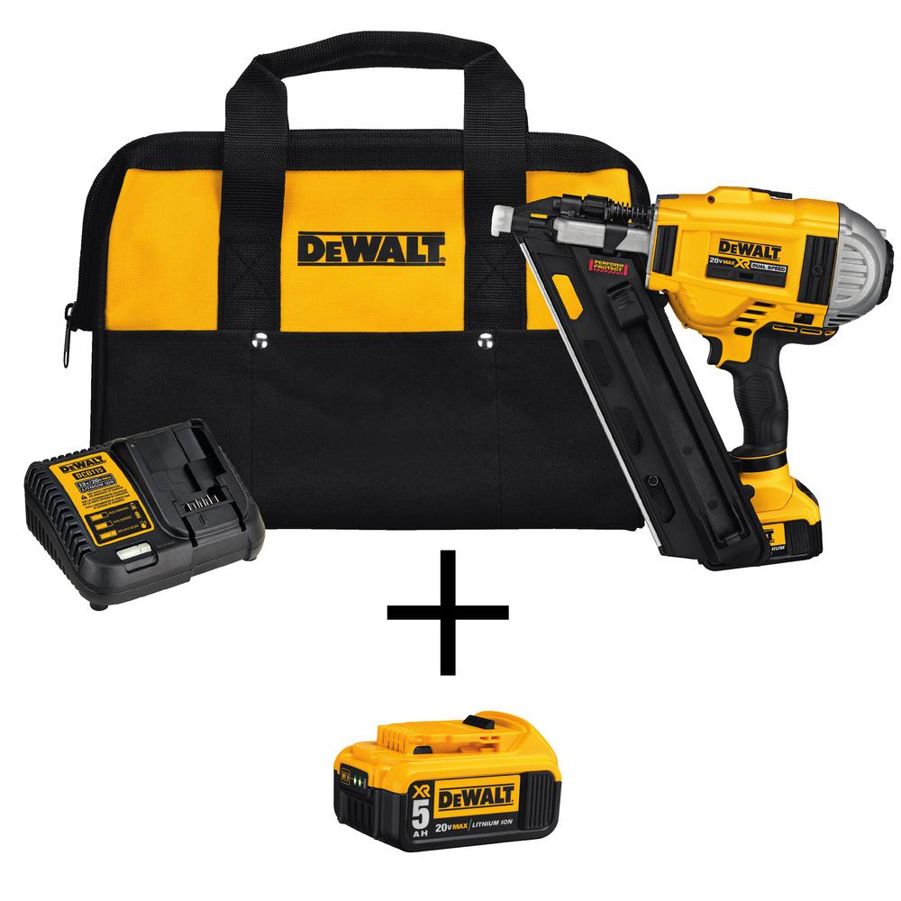 20-Volt MAX XR Lithium-Ion Cordless Brushless 2-Speed 33 Degree Framing Nailer