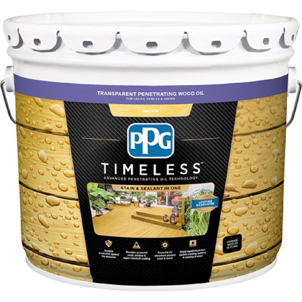 3 gal. TPO-0 Natural Transparent Penetrating Wood Oil Exterior Stain Low