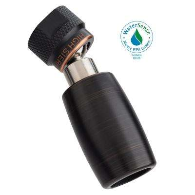 Classic Plus 1-Spray 1 in. 1.5 GPM Low Flow Fixed Shower Head with All Metal Construction in Oil Rubbed Bronze