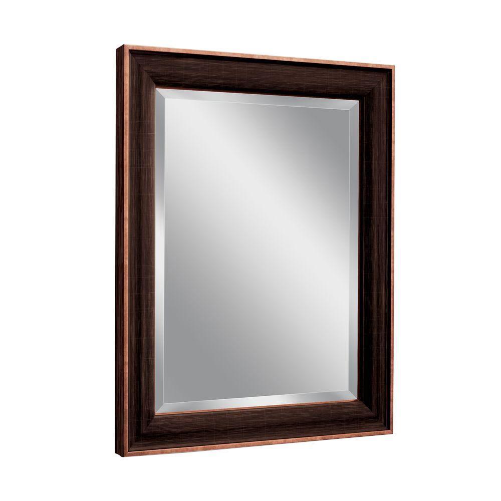 Deco mirror 28 in w x 34 in h barkley single mirror in - Oil rubbed bronze bathroom mirrors ...