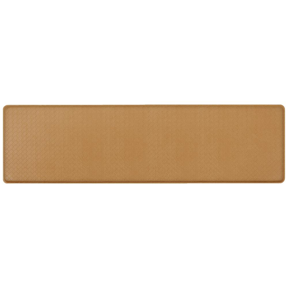 GelPro Classic Basketweave Khaki 20 In. X 72 In. Comfort Kitchen Mat