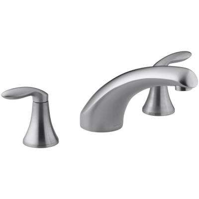 Coralais Tub Faucet Trim Only in Brushed Chrome (Valve Not Included)