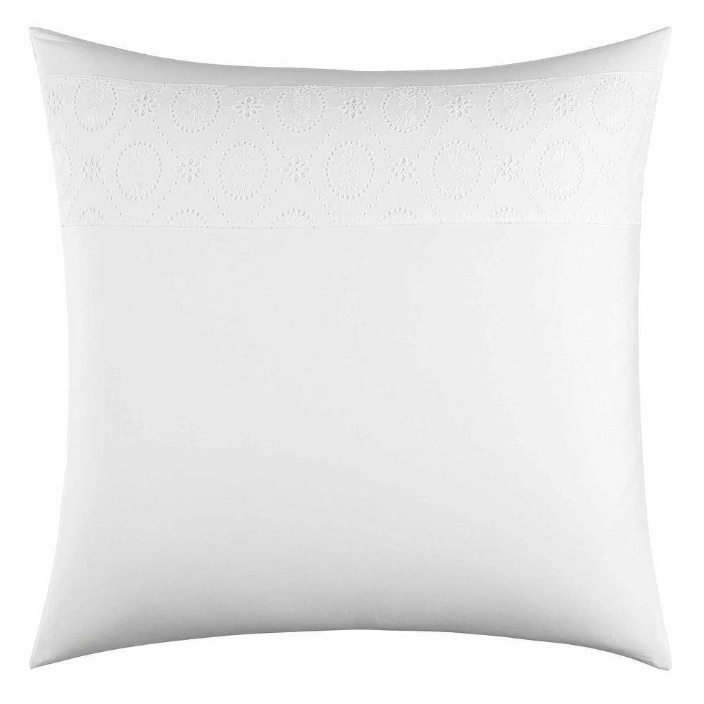 Siesta Key White European Sham Delicate eyelet triming makes the Siesta Key European Sham by Tommy Bahama a must have item. The all white European sham will surely elevate your current bedding ensemble. European sham is machine washable and features an envelope closure. European Sham (26 in. x 26 in.).