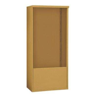 3900 Series 32.25 in. W x 69.25 in. H x 19 in. D Free-Standing Enclosure for Salsbury 3713 Double Column Unit in Gold