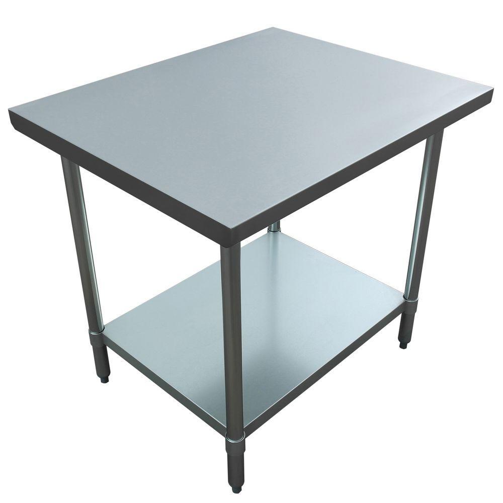 excalibur stainless steel kitchen utility table et184f3036g the home depot. Black Bedroom Furniture Sets. Home Design Ideas