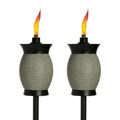 64 in. Resin Jar Torch 4-in-1 Gray Color (2-Pack)